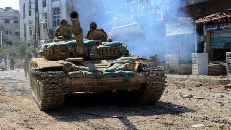الجيش السوري يشن هجوما ضد المسلحين في ريفي درعا والقنيطرة