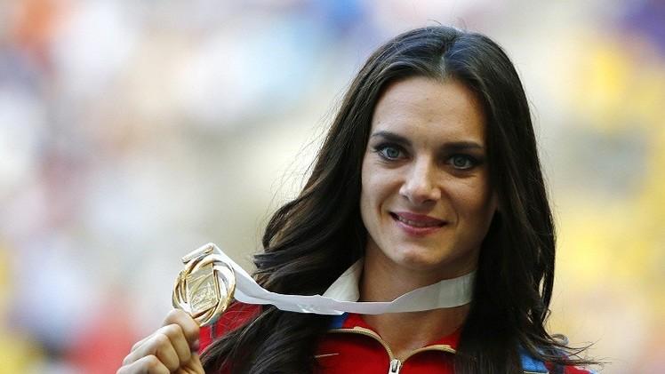 البطلة الأولمبية ايسينباييفا تعود للتدريبات استعدادا لأولمبياد ريو دي جانيرو