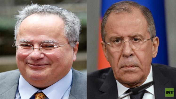 لافروف: روسيا واليونان مهتمتان بتطوير التعاون العسكري