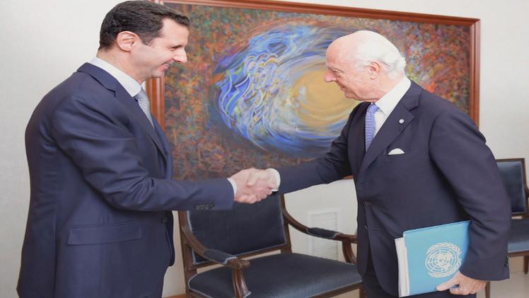دي ميستورا يلتقي الأسد ويقدم قريبا تقريرا إلى مجلس الأمن