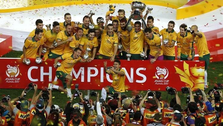 منتخب أستراليا بطل آسيا 2015