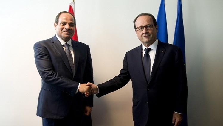 باريس والقاهرة توقعان اتفاقية طائرات
