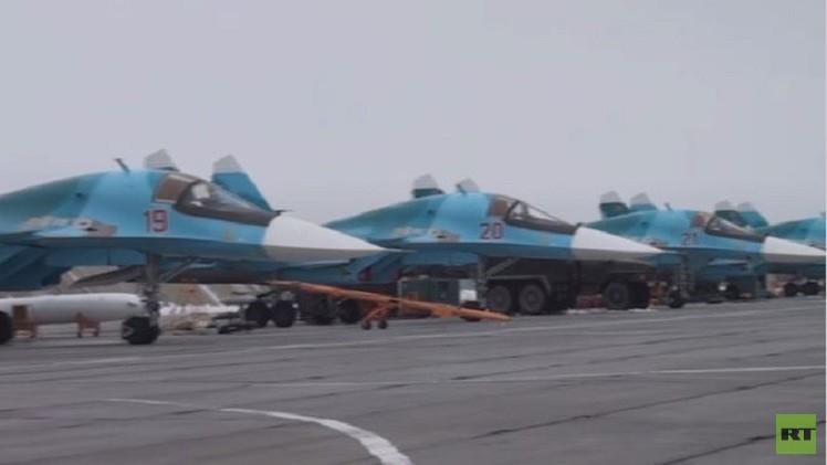 بالفيديو .. تدريبات تكتيكية بالمقاتلة الروسية الأقوى سوخوي