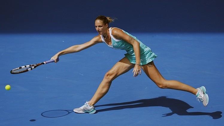التنس.. التشيكية بليشكوفا تبلغ المربع الذهبي لدورة انتويرب
