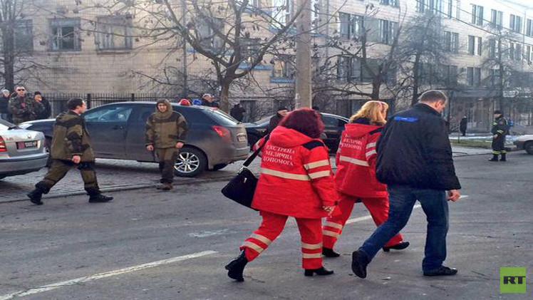 مقتل 3 أشخاص جراء سقوط قذائف قرب مقر الرئاسة في دونيتسك شرق أوكرانيا