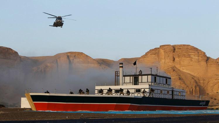 مناورات بحرية مصرية سعودية بعد التهديد باستخدام القوة في اليمن