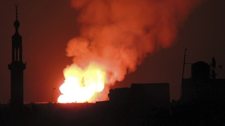 دمشق تغرق في الظلام بعد تفجير أنبوب للغاز جنوب المدينة على يد مسلحين
