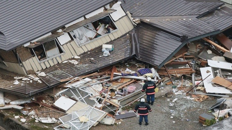زلزال بقوة 6,9  يضرب اليابان..ولا مخاوف من تسونامي