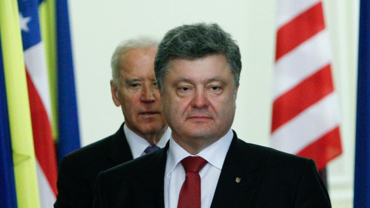 بوروشينكو يدعو واشنطن إلى تزويد أوكرانيا بالسلاح