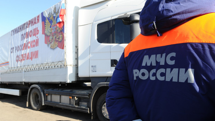 قافلة مساعدات إنسانية روسية جديدة إلى دونباس