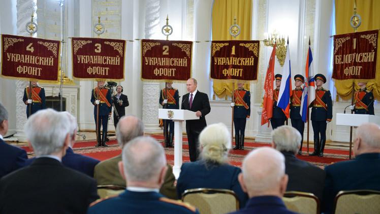 بوتين يدعو الشباب لاستخلاص العبر من بطولات المحاربين القدامى