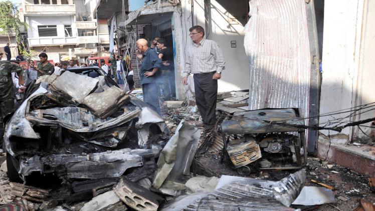 قتلى في انفجار ضخم في مدينة القرداحة بسوريا