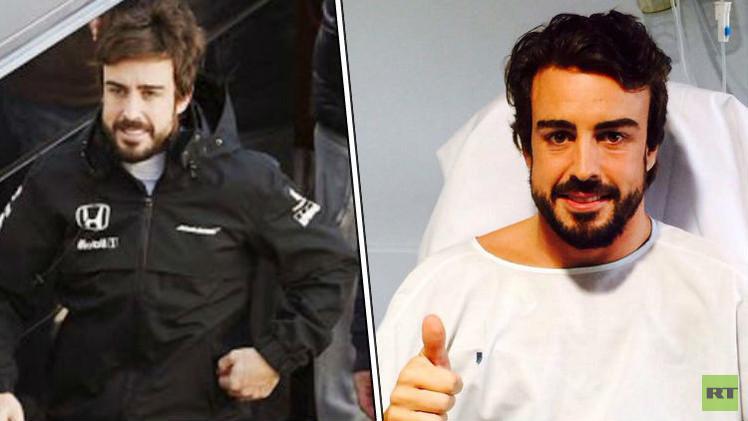 ألونسو مصاب بارتجاج بعد الحادث