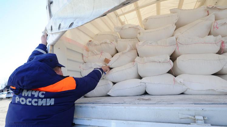 تشكيل قافلة روسية جديدة من المساعدات الإنسانية لسكان شرق أوكرانيا
