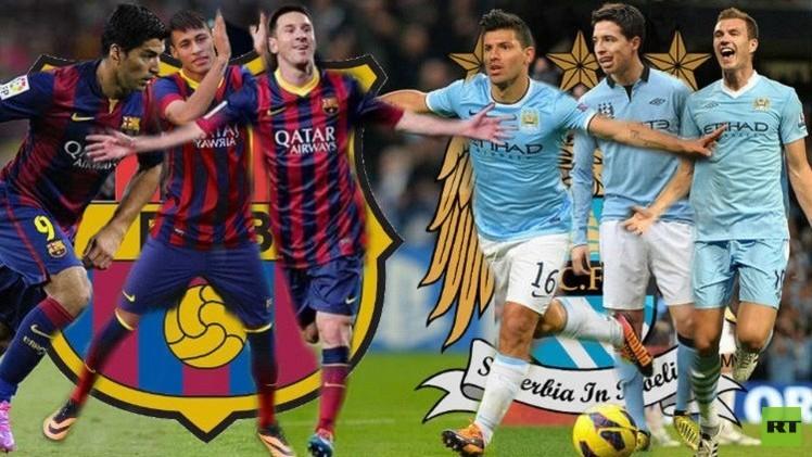 التشكيلة الرسمية لمباراة برشلونة ومانشستر سيتي