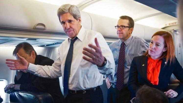 بساكي: كيري يلتقي لافروف والمفاوضين الإيرانيين بسويسرا