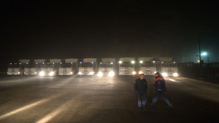 قافلة مساعدات روسية جديدة تنطلق الى شرق أوكرانيا