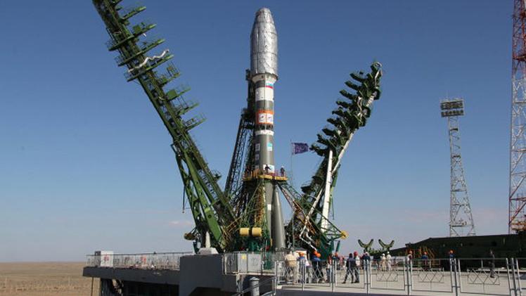 وصول القمر الاصطناعي الروسي الى مداره وانفصاله عن الصاروخ الناقل