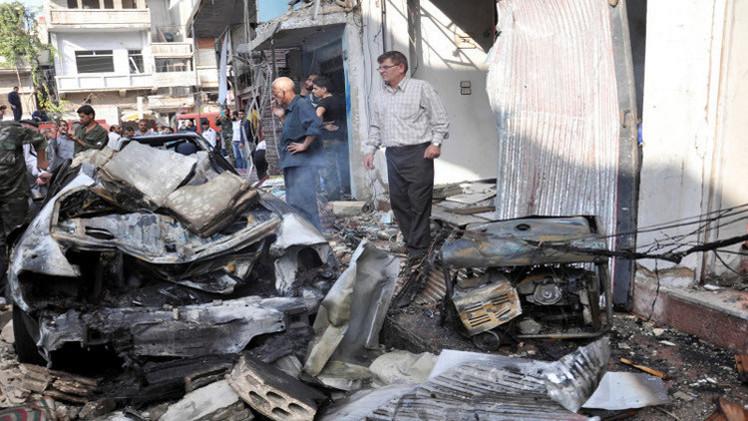 قتلى وجرحى بتفجير سيارتين في ريف دمشق