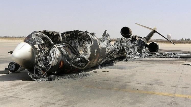 سقوط طائرة لقوات