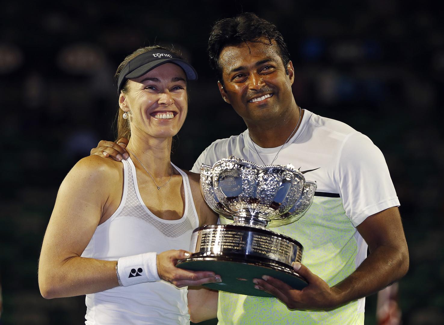 هينغيز تفوز مع الهندي بايس بلقب الزوجي المختلط في أستراليا