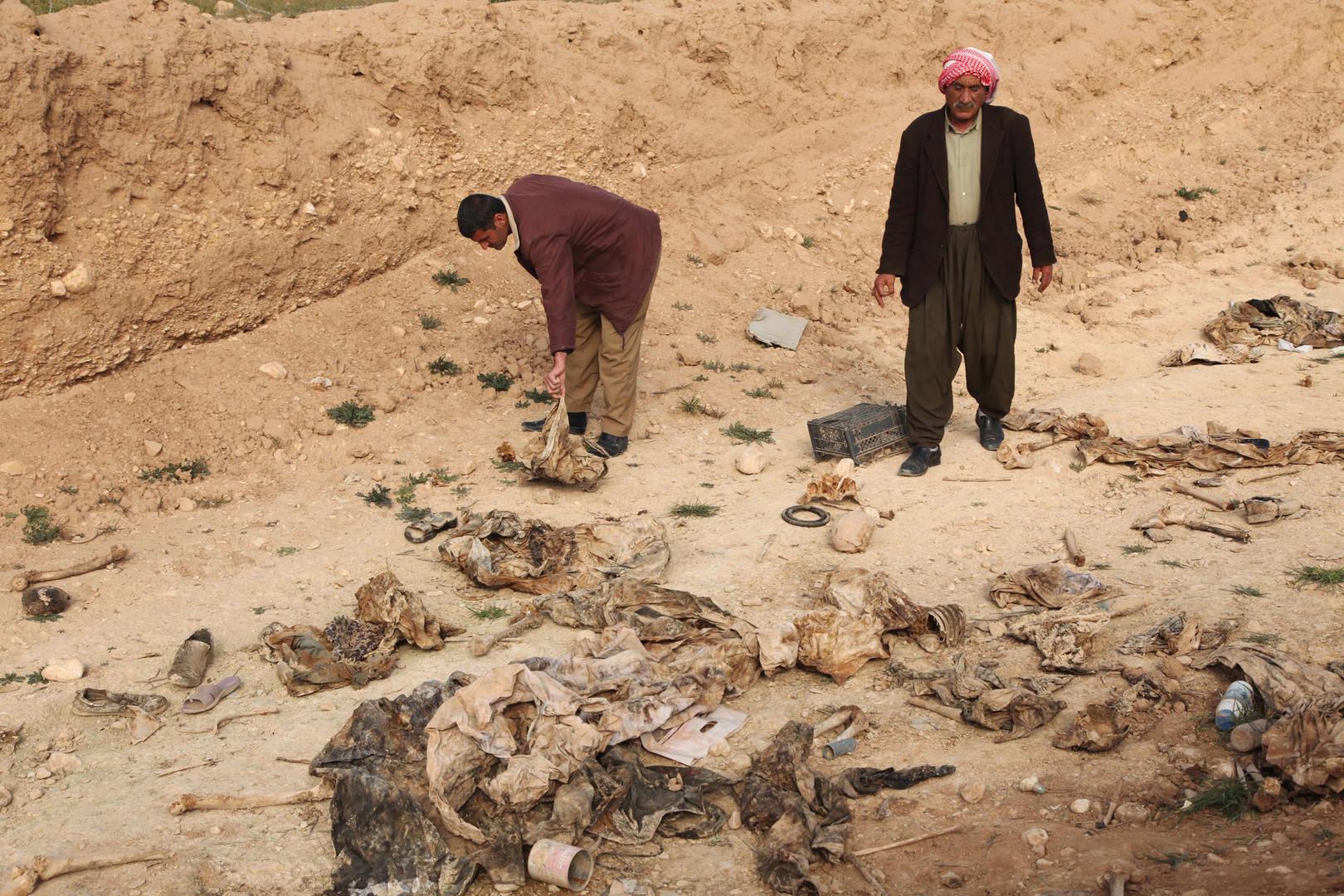 تزايد أعداد المقابر الجماعية في العراق