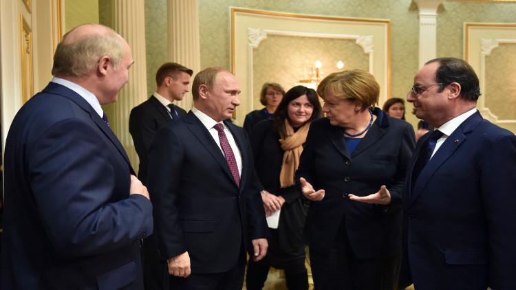 """بعد مخاض عسير.. """"رباعية النورماندي"""" تعلن ولادة اتفاق لتسوية الأزمة الأوكرانية"""