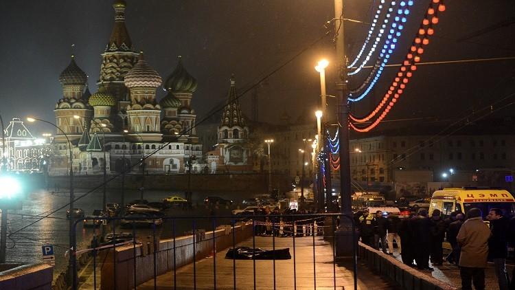 مسيرة الحداد على السياسي الروسي نيمتسوف في موسكو
