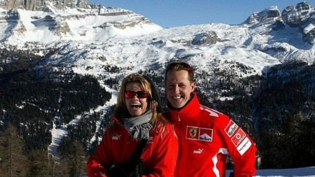 مايكل شوماخر وزوجته كورينا - صورة من الأرشيف