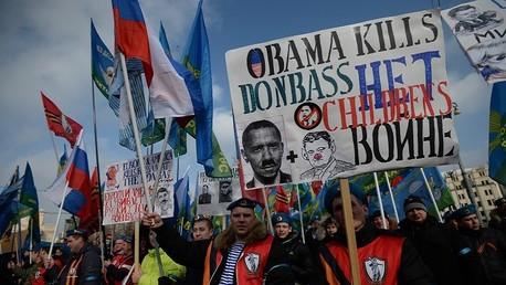 موسكو - مسيرة ضد أحداث الميدان الأوكراني