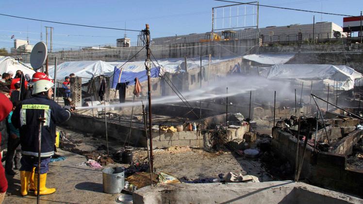 مصرع 4 لاجئين سوريين جراء حريق في مخيم الزعتري بالأردن