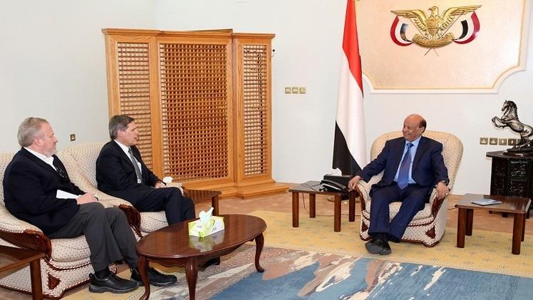 اليمن.. عبدربه منصور هادي يلتقي السفير الأمريكي في عدن