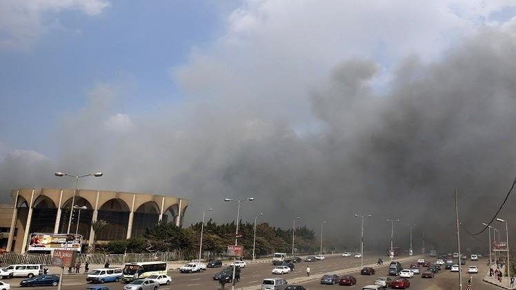 16 مصابا بحريق مركز للمؤتمرات في القاهرة