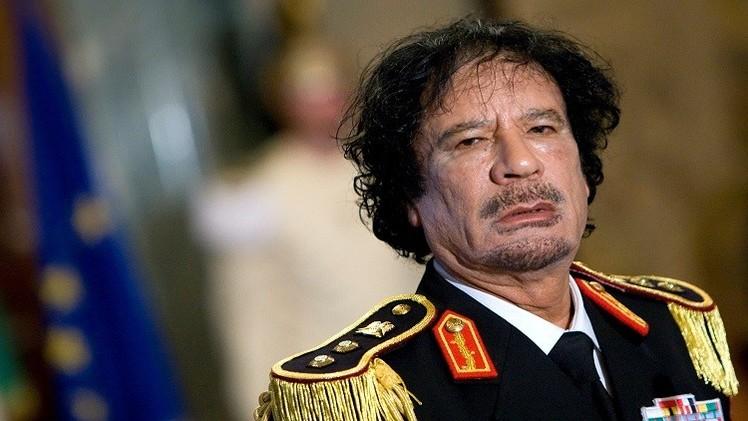 العقيد الليبي الراحل معمر القدافي