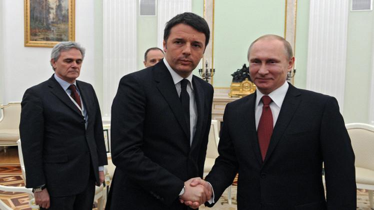 بوتين: روسيا وإيطاليا تنطلقان من ضرورة تمسك طرفي النزاع في أوكرانيا باتفاقات مينسك
