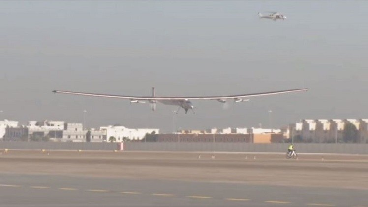 بالفيديو..  رحلة حول العالم بطائرة تعمل بالطاقة الشمسية
