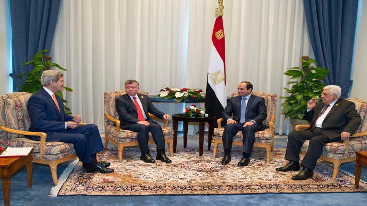اجتماع رباعي في مصر لبحث عملية السلام في الشرق الأوسط