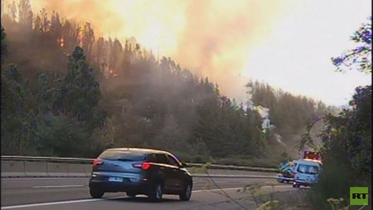 فيديو.. حرائق ضخمة في غابات تشيلي