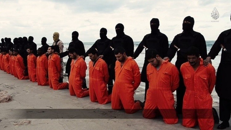 إعدام أقباط على يد داعش