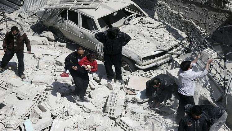 سوريا.. عشرات القتلى والجرحى في غارات جوية على دوما