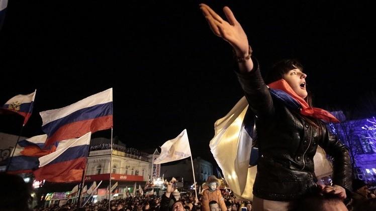 الذكرى الأولى لاستفتاء انضمام القرم إلى روسيا