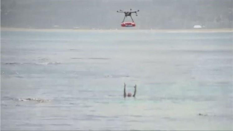 بالفيديو.. طائرة من دون طيار لمساعدة رجال الإنقاذ على الشواطئ المزدحمة