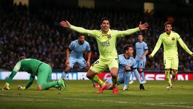 برشلونة المتألق يتربص بمانشستر سيتي الجريح