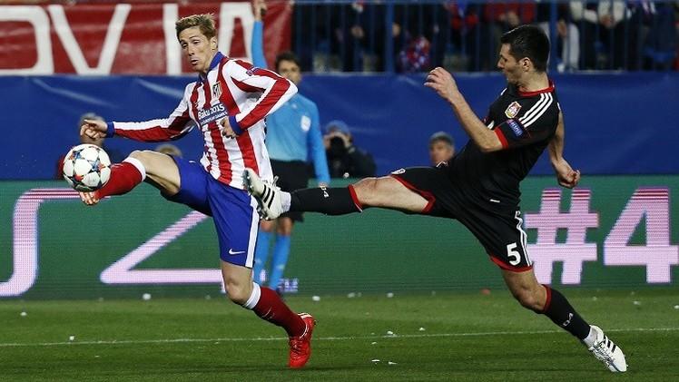 اتلتيكو مدريد يهزم ليفركوزن ويبلغ ربع نهائي التشامبيونز ليغ
