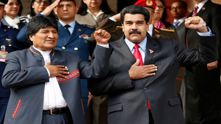 موراليس وكاسترو يتضامنان مع مادورو في مواجهة أوباما