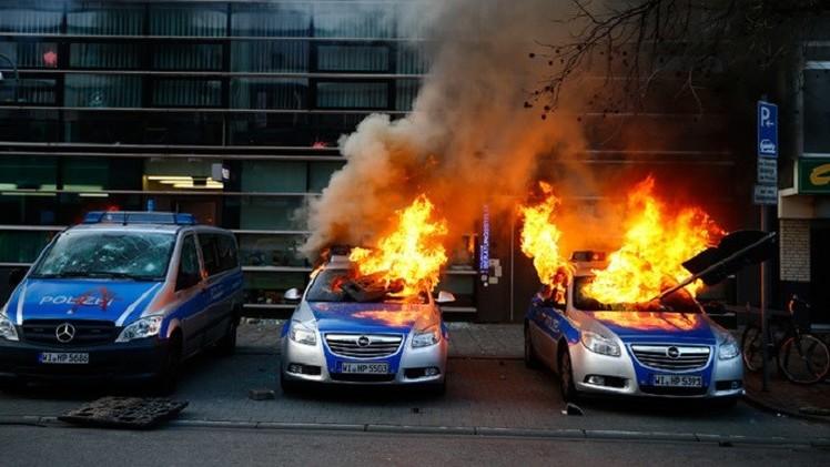 أكثر من 200 جريح في احتجاجات ضد التقشف في فرانكفورت (فيديو+صور)