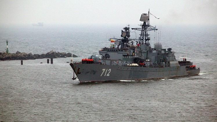 تدريبات قتالية للبحرية الروسية في 3 بحار (فيديو)
