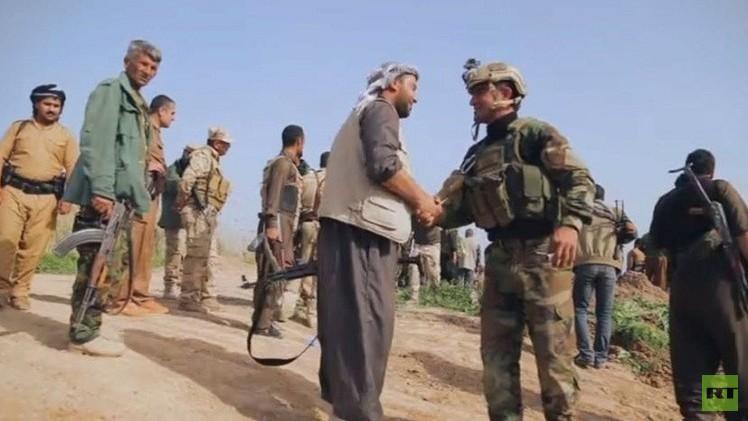 مقاتلو البيشمركة يحررون قرى في كركوك