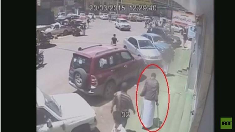 بالفيديو.. الانتحاري الأعرج حامل حزام الموت إلى مسجد بدر بصنعاء