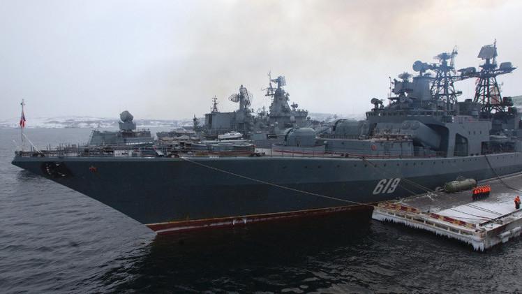 سفينة حربية روسية مضادة للغواصات تتجه إلى غرب المتوسط